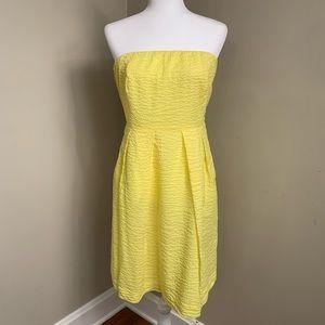 J. Crew strapless yellow dress